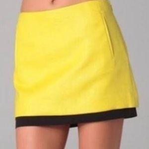 Diane Von Furstenberg yellow mini skirt